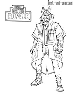 Fortnite Battle Royale Coloring Page Power Chord Female Skin Outfit