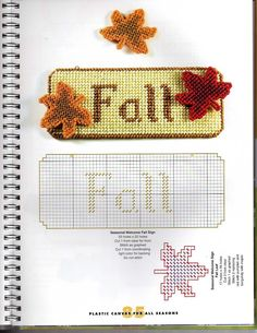 Plastic Canvas For All Seasons - seasonal a Welcome Sign - Fall