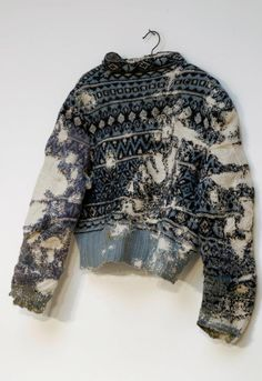 Darned sweater by Celia Pym