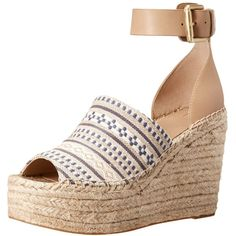 a3921f26e25 Marc Fisher LTD Women s ADALYN2 Espadrille Wedge Sandal ( 107) ❤ liked on  Polyvore featuring