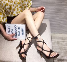 2020 summer sandal with block/pumps/pencil heels for women/girls or plus size female. Luxury heels for women in different sizes and colors. Black Pumps Outfit, Heels Outfits, Black Strappy Heels, Black Heel Boots, Classy Outfits, Women's Summer Fashion, Trendy Fashion, Women's Fashion, Socks And Heels