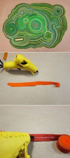 DIY Rug Made Of Felt Scraps