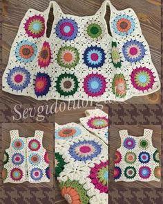 Transcendent Crochet a Solid Granny Square Ideas. Inconceivable Crochet a Solid Granny Square Ideas. Crochet Waistcoat, Cardigan Au Crochet, Crochet Vest Pattern, Crochet Jacket, Crochet Motif, Crochet Shawl, Crochet Designs, Knitting Patterns, Crochet Patterns