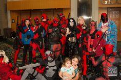 Deadpool group cosplay at Salt Lake Comic Con 2014