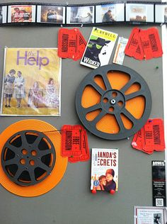 Books to Movies Display #edchat #tlchat #aslachat