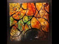 Lacas, craquelado y foil - Marcos para cuadros - Vasijas en ceramica - Delia Di Giorgio - YouTube
