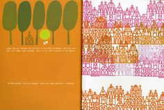 Interior page of Henri's Walk To Paris, written by Leonore Klein, illustrated by Saul Bass