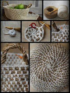 Haken en breien | Een mandje kun je ook zelf maken/breien.