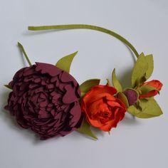 Обруч с цветами «Autumn Flowers»