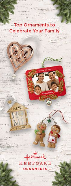 Whether you're celebrating your first Christmas together or the first one in a new home, now's the perfect time to show how much you care. This holiday season, give a Keepsake Ornament to make a moment even more special. It's sure to lift their spirits and be the perfect addition to anyone's tree. Available at Hallmark Gold Crown stores or online.
