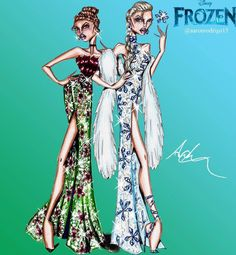 'Anna and Elsa' Disney Princess Couture Collection by @aaronrodrigo15  Be Inspirational ❥ Mz. Manerz: Being well dressed is a beautiful form of confidence, happiness & politeness