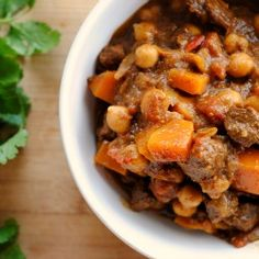 Moroccan Lamb and Butternut Squash Chili