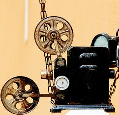 Old-fashioned film projector. Wouldn't that make a cool conversation piece in a home?