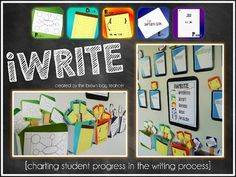 Awesome way to track student progress in the writing process! (iBrainstorm, iDraft, iRevise, iEdit, and iPublish)
