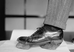 """This is a """"cow shoe"""" worn during by moonshiners during Prohibition to disguise one's footprints."""