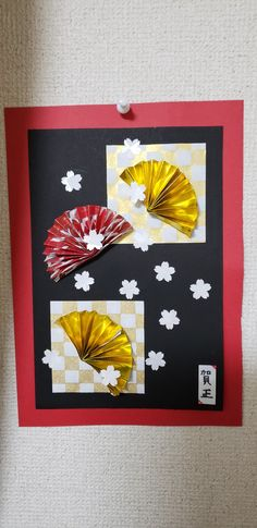 Crafts For Kids, Arts And Crafts, Paper Crafts, Diy Crafts, Asian Cards, New Years Decorations, Origami Paper, Mother And Child, Display