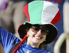 Italian fan at the 2013 Confederations Cup in Brazil.
