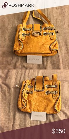 AUTHENTIC JIMMY CHOO BAG this bag is in great condition! i do not except trades but i am open to negotiate. let me know if there is something else you would like to see. Jimmy Choo Bags