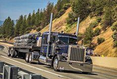Big Rig Trucks, Semi Trucks, Cool Trucks, Peterbilt 359, Peterbilt Trucks, Harley Davidson V Rod, Heavy Truck, Classic Trucks, Buses