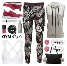 """""""work it out: gym essentials"""" by jesuisunlapin ❤ liked on Polyvore featuring adidas, Beyond Yoga, Peace Love World, NARS Cosmetics, Urbanears, Kate Spade, Bodyism, Ray-Ban, New Balance and Swell"""