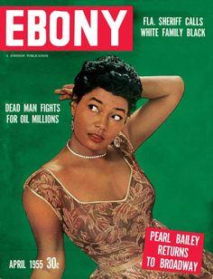 Jet Magazine, Black Magazine, Ebony Magazine Cover, Magazine Covers, Pearl Bailey, Ebony Color, Black History Month, Black History People, Coloured People