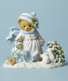Look at this #zulilyfind! White Bear Christman Figurine #zulilyfinds