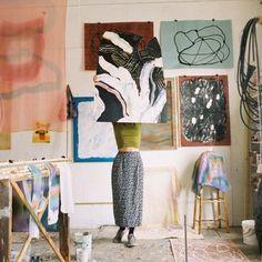 art studio photo by Painting Inspiration, Art Inspo, Inspiration Artistique, Dream Studio, Wow Art, Creative Studio, Art Studios, Artist At Work, Oeuvre D'art