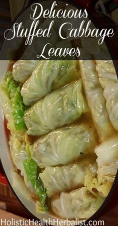 Delicious Stuffed Cabbage Leaves An old family favorite, stuffed cabbage rolls never fail to impress! #stuffedcabbage #cabbagerolls #cabbage #dinner #recipes