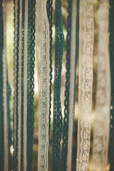 Lace ribbon backdrop. Mmm.