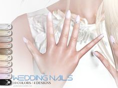 Sims 4 CC's - The Best: Wedding Nails by Pralinesims