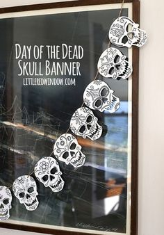 Turn a regular Halloween decoration into a fun Day of the Dead Skull Banner! I know that most of your aren't craft bloggers, but hopefully you can relate to those times when your work just feels inesc