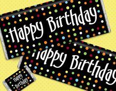 Personalized Birthday Gifts: Custom Wrapped HERSHEY'S Bars - Chocolate Birthday Card Greetings #employeebirthday