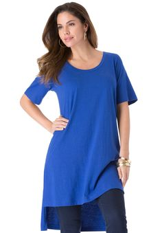 This high/low tunic is a contemporary look with a touch of flair.  relaxed…