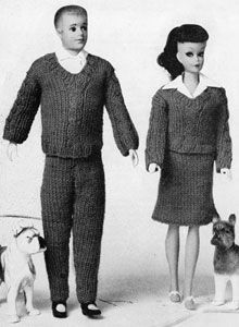 Cable Stitch Slipover | No. 780 | Doll Clothes Pattern | Free Knitting Patterns