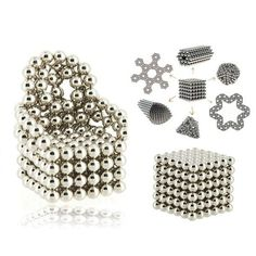 216pcs 5mm DIY Buckyballs Neocube Magic Beads Magnetic Toy Silver.  Check this out at the Tmart link on MomTheShopper.