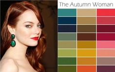 red hair in autumn color palette clothing   Which Season Are You?   Blogspace By…