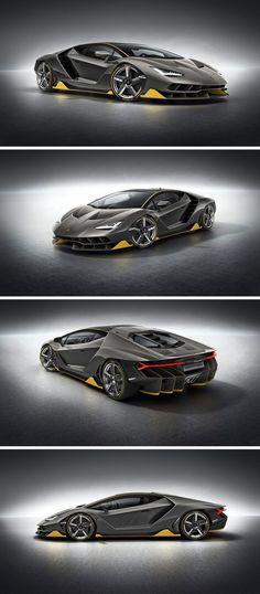 Este es el Lamborghini Centenario modelo 2017