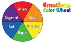 The Emotion Color Wheel can help visually group feelings. The circle is divided into colors to show some basic emotions. Colors And Emotions, Feelings And Emotions, Emotion Color Wheel, Colour Wheel, Emotions Wheel, Emotional Awareness, Charts For Kids, Therapy Activities, Emotions Activities