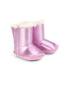 UGG Australia Infant's Cassie Metallic Leather Booties