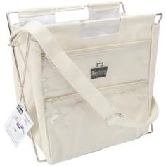 @Overstock - BAGSMITH-Canvas Project Bag. New and improved construction but still the same famous BagSmith Project Bag! It features a scissor-style hinged frame that easily opens and closes as needed and a main compartment for keeping the bulk of your projects.http://www.overstock.com/Crafts-Sewing/Bagsmiths-Famous-Canvas-Project-Bag-12-X12-X9-Natural/6793081/product.html?CID=214117 $36.99