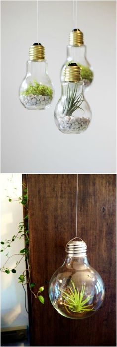 Designs intéressants en ampoule- Interesting Design Made of … – About Designs Light Bulb Art, Light Bulb Crafts, Small Space Interior Design, Interior Design Living Room, Eco Deco, Recycled Light Bulbs, Diy Home Decor, Room Decor, Diy Tumblr