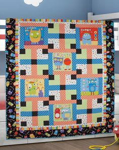 """""""Monster Maze"""" by Sue Harvey and Sandy Boobar (from The Quilter Magazine February/March 2013 issue)"""