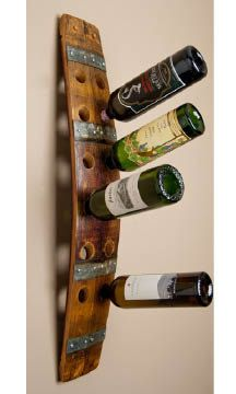 Napa Wine Barrel Wine Rack by alpinewinedesign on Etsy, $125.00