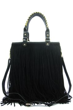 NEW HANDBAGS - Alfa Fringe Tote Bag - Available in Black or Brown Go Direct To https://www.kinsaccents.com/product_info.php?products_id=306 #Suede #Black #Brown #Hot #Fashion #Regram #Pinterest #PinterestFashion #WomensStyle  #Handbag #WomenShopping #OnlineStore #Online #Retail #KinsAccents #Clothing #Women