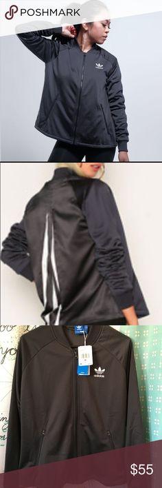 NWT $80 ADIDAS Gray flare back jacket women's M New with tags $80 Adidas Jacket Women's size MEDIUM  Gray and white Flare back adidas Jackets & Coats