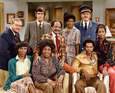 The Jeffersons is an American sitcom from January through June Sherman Hemsley Isabel Sanford Marla Gibbs Roxie Roker Franklin Cover Paul Benedict Mike Evans Berlinda Tolbert Zara Cully Damon Evans Ned Wertimer 70s Tv Shows, Old Shows, Great Tv Shows, Movies And Tv Shows, The Jeffersons Cast, Sherman Hemsley, Ed Vedder, Black Tv Shows, Pin Up