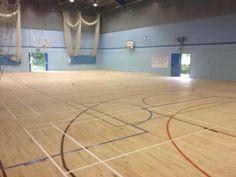 School gym flooring project Hardwood Floors, Flooring, Restoration, Gym, School, Projects, Wood Floor Tiles, Log Projects, Wood Flooring