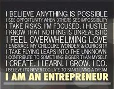 I Am An Entrepreneur.