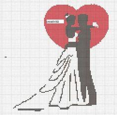 Cross Stitch Family, Cross Stitch Heart, Cross Stitching, Cross Stitch Embroidery, Wedding Cross Stitch Patterns, Crochet Chart, Le Point, Plastic Canvas Patterns, Naples