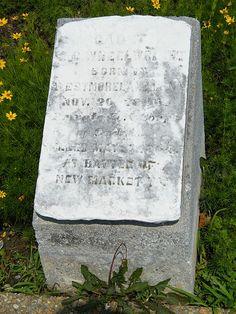 Gravestone of VMI Cadet ta New Market Battlefield, New Market, Virginia